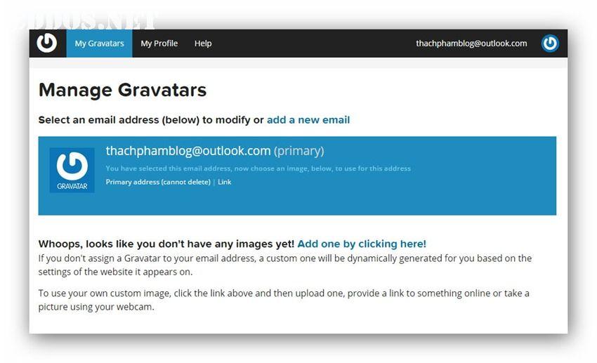 gravatar-dashboard