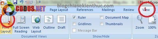 tạo mục lục tự động trong word 2007 4
