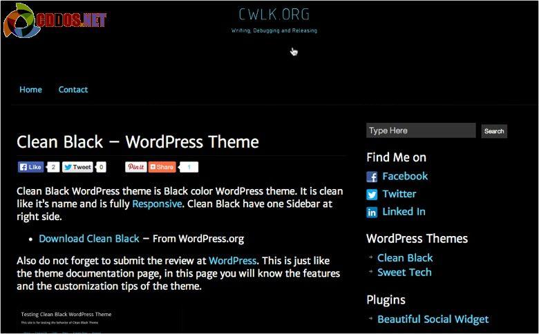 CleanBlack - Theme WordPress đen