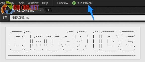 cloud9-runproject