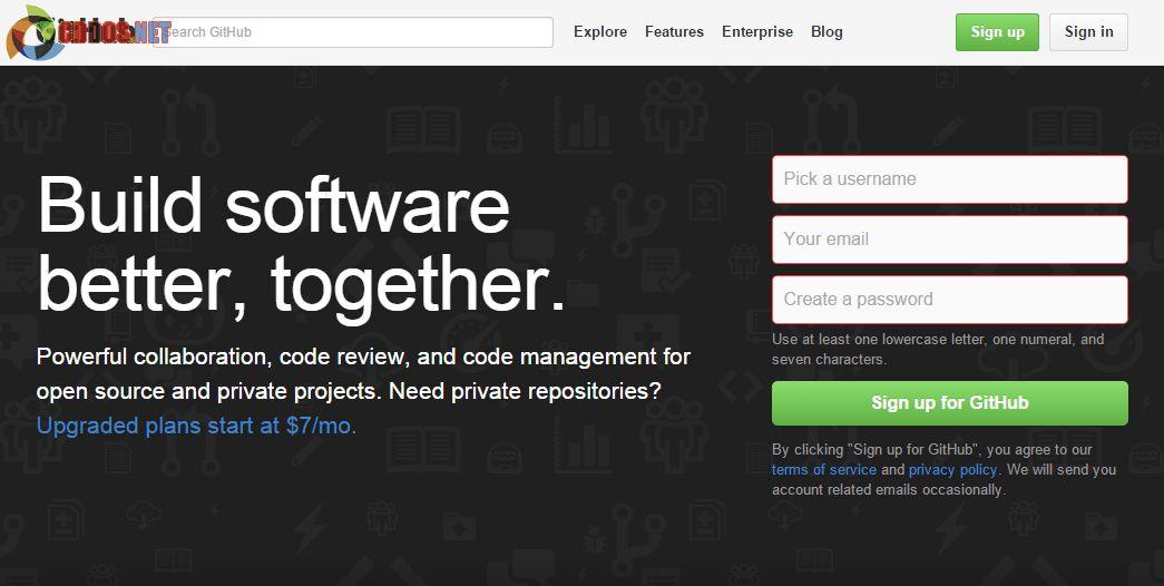 Github là một dịch vụ máy chủ Repository