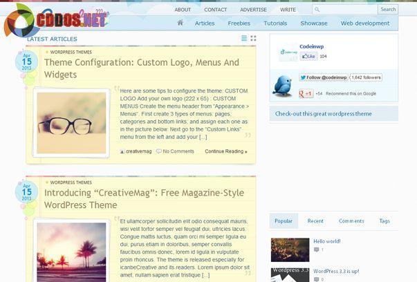 Theme blog cá nhân phong cách độc đáo