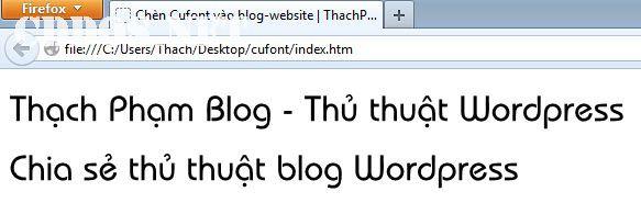 Chèn Cufont vào website - blog