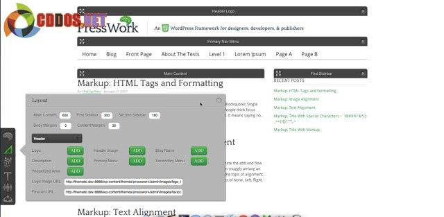 PressWork - Framework miễn phí hỗ trợ Drag & Drop