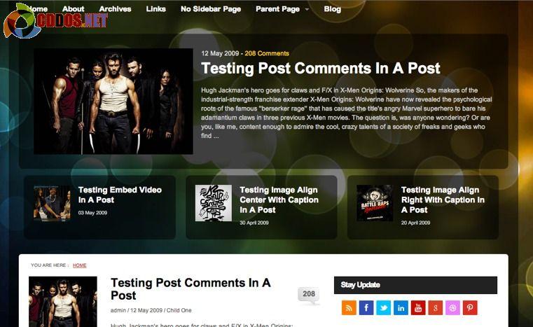 Theme dành cho blog công nghệ hoặc game