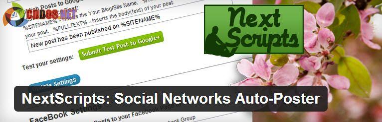 Tự đăng bài lên mạng xã hội với plugin NextScripts Auto Poster