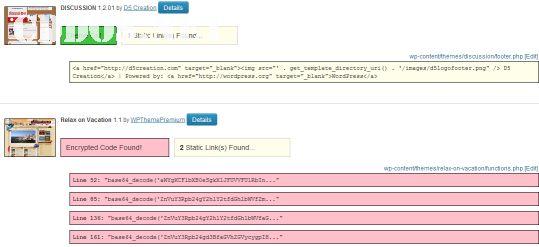 Scan mã độc trong theme WordPress