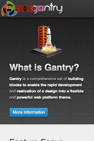 Gantry Framework hỗ trợ Responsive