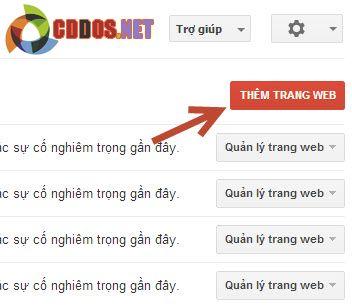 Thêm website vào Google Webmaster Tools