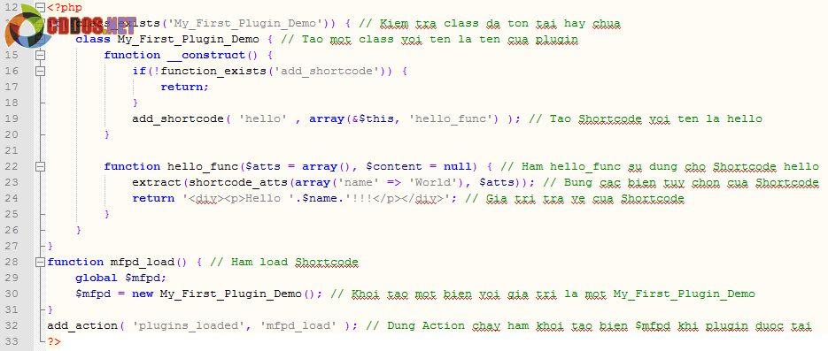 Giải thích các dòng lệnh trong plugin