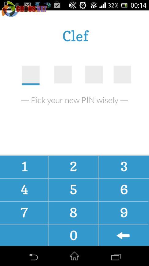 Tạo mã Pin cho Clef