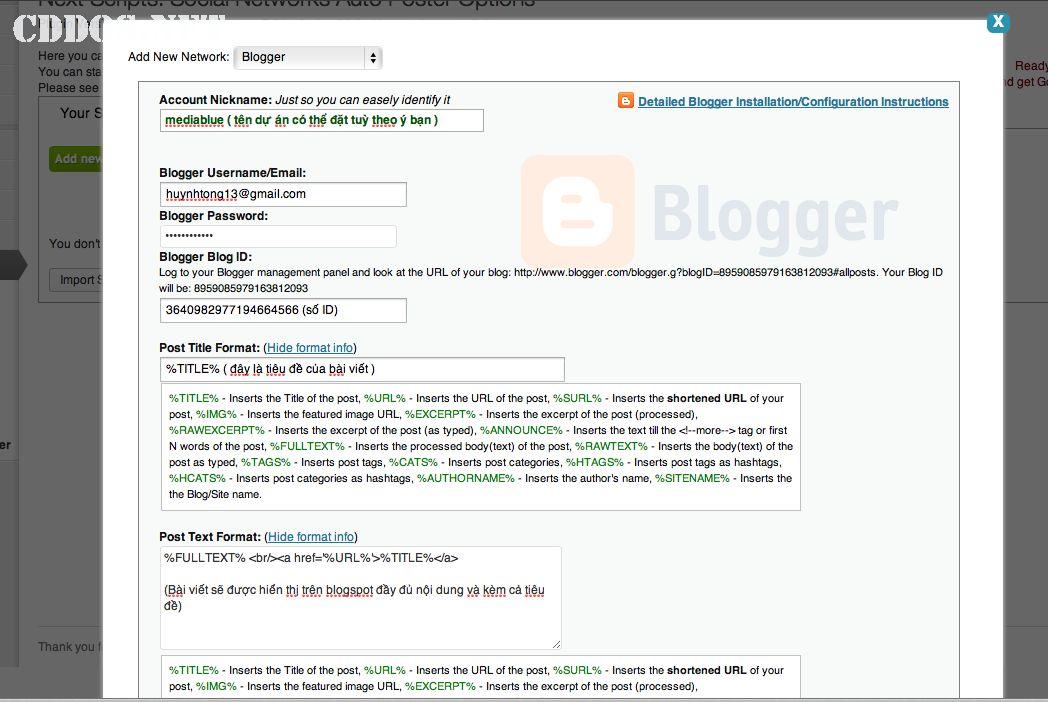 Tự đăng bài lên mạng xã hội với NextScripts Auto Poster
