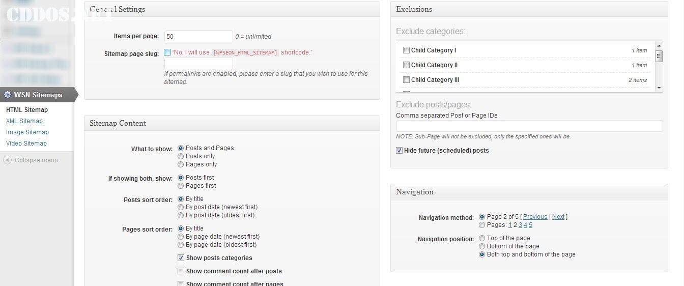 Tính năng tạo sitemap trong WordPress SEO Ninja