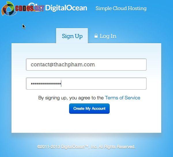 Đăng ký tài khoản DigitalOcean để mua VPS giá rẻ
