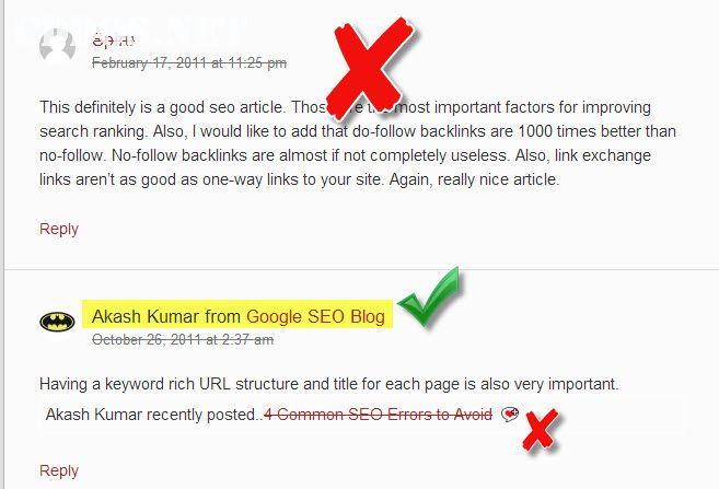 Blog có bật chức năng kiểm duyệt với KeywordLuv và CommentLuv