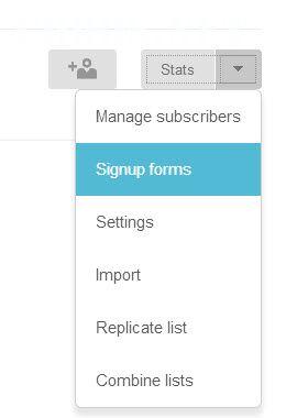 Chỉnh sửa email List