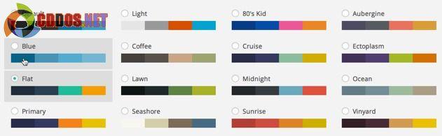 Nhiều màu sắc hỗ trợ trong admin