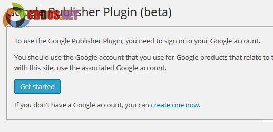 Màn hình khởi động Google Publisher