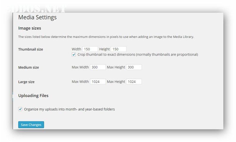 media-settings-wordpress