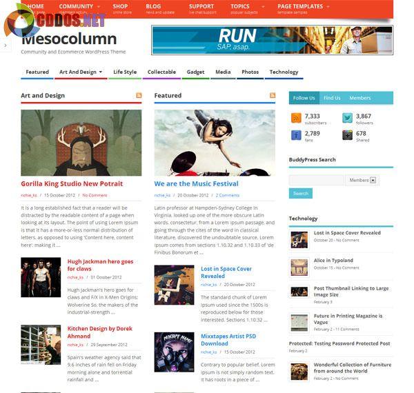 Theme miễn phí cực đẹp, hỗ trợ BuddyPress và WooCommerce