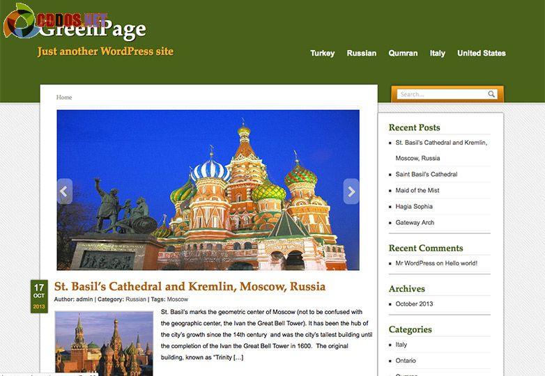 Theme miễn phí cho blog du lịch