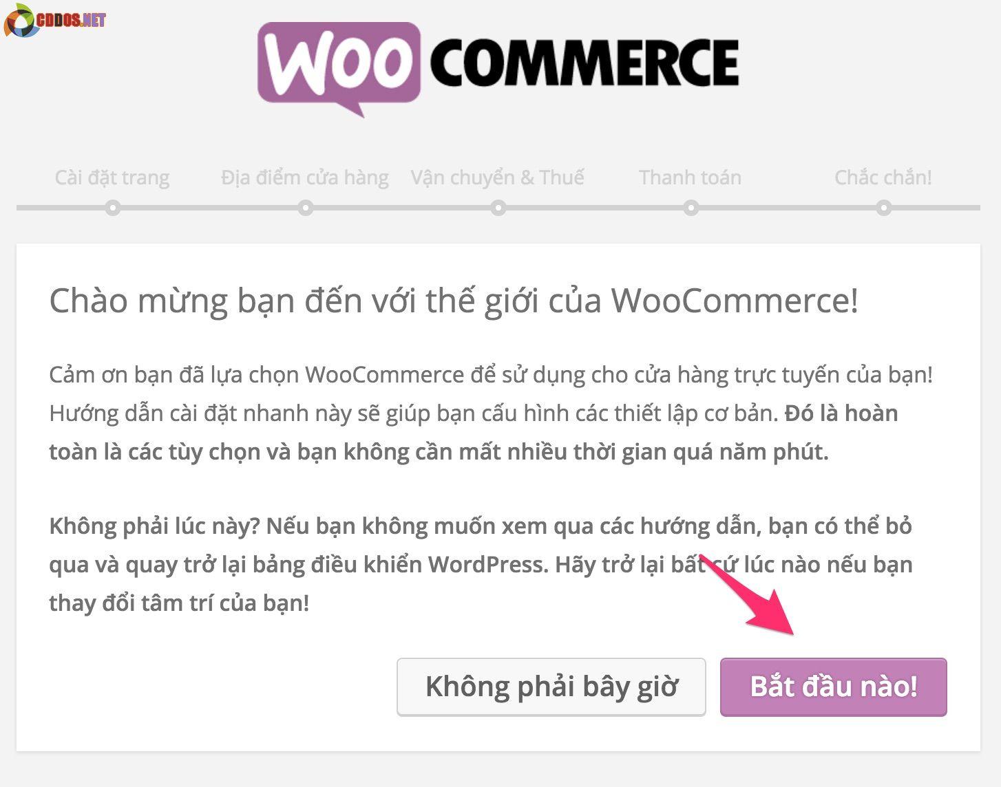 Cài đặt bản dịch và thiết lập cho Woocommerce
