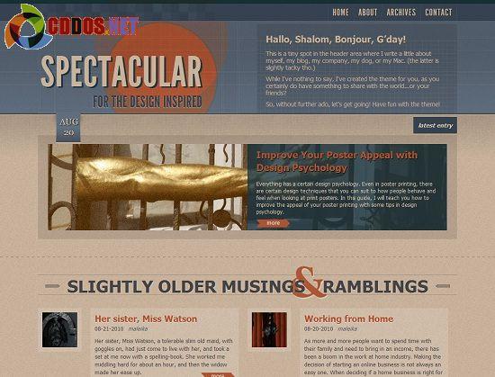 Theme blog cá nhân phong cách Retro