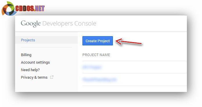 create-project-googlecloud