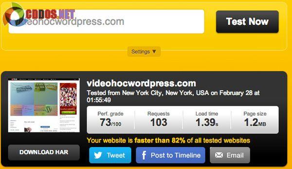 Tốc độ DreamPress từ Mỹ