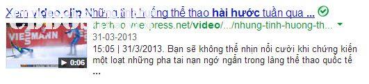 Hiển thị video trên Google