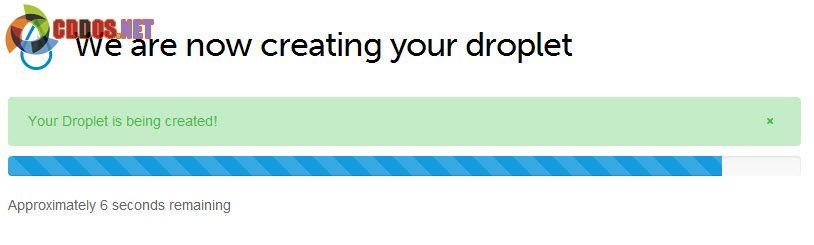 Đợi DigitalOcean tạo Droplet