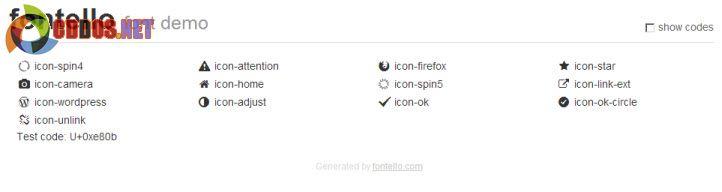 Hướng dẫn chèn icon vào web với Fontello