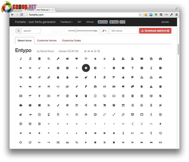 Nhúng icon vào web với FontTello