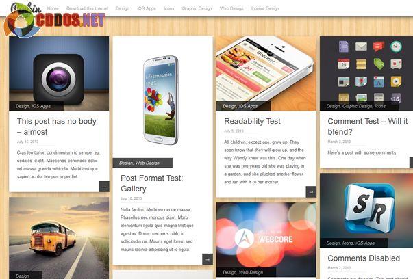 Theme mang phong cách tựa như Pinterest