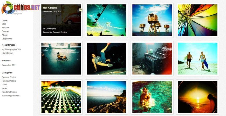 Theme miễn phí cho site ảnh