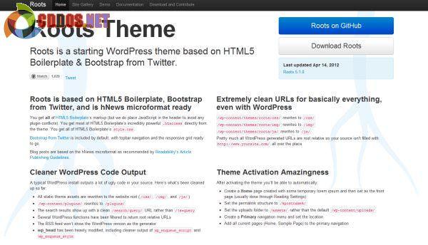 Theme framework miễn phí sử dụng Boostrap