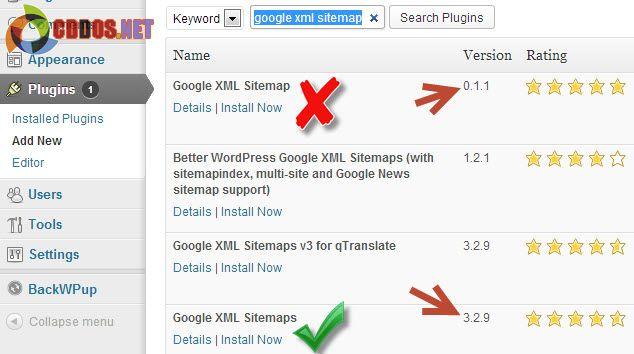 Cài plugin Google XML Sitemap