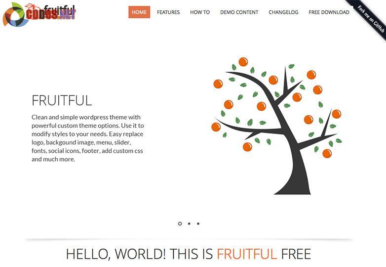 Fruitful Free Theme