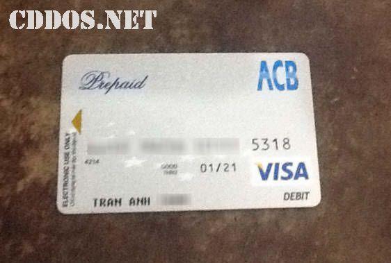 Làm thẻ Visa Prepaid ngân hàng ACB
