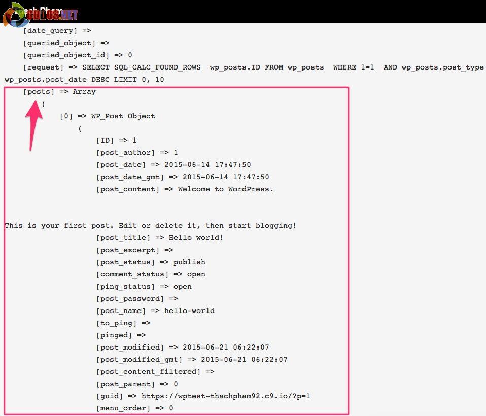 wp-query-postobject