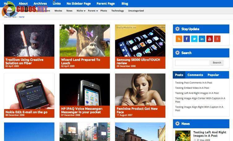 Theme miễn phí cho blog công nghệ