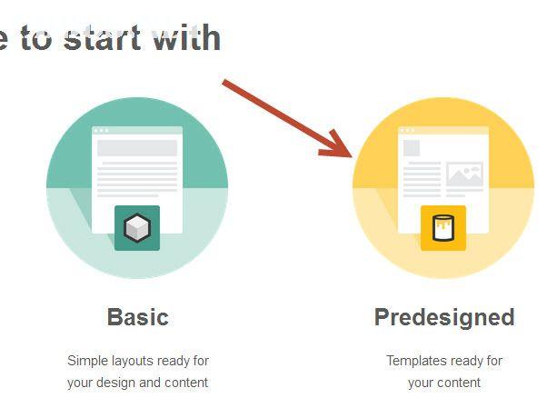 Chọn kiểu thiết kế mẫu email