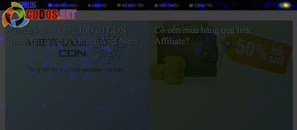 Tỷ lệ click lên featured content của cddos.net
