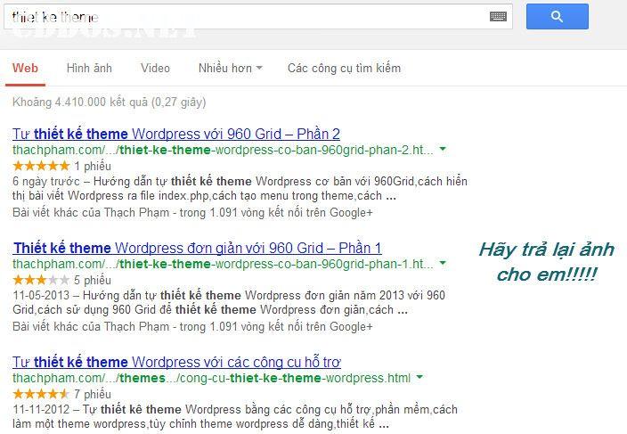 Vì sao Google Rich Snippet không hiển thị?