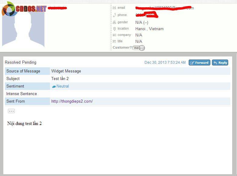 Quản lý thông tin người dùng