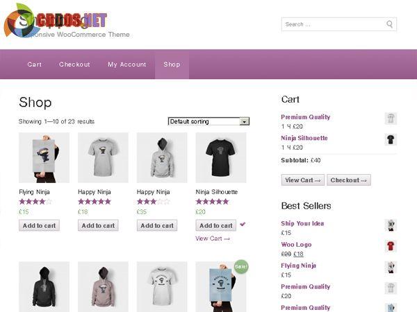 Shopping - Theme miễn phí cho Woocommerce
