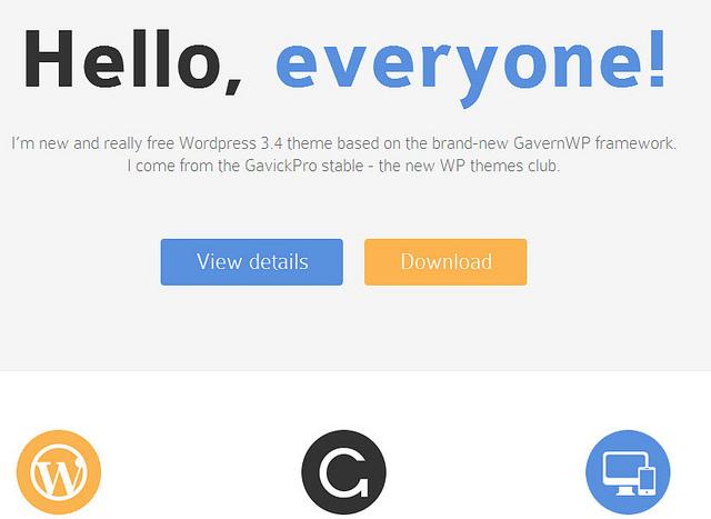 Demo theme Meet GavernWP