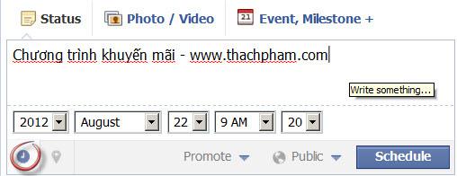 Hẹn giờ đăng status trên Facebook