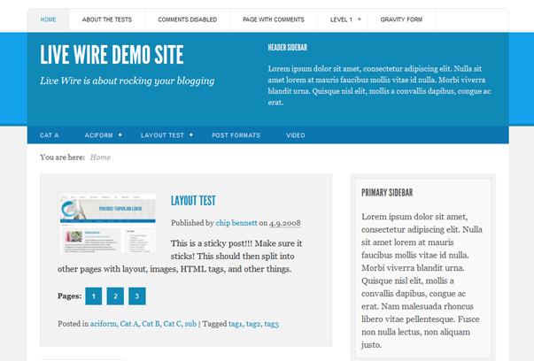 Theme WordPress miễn phí Livewire