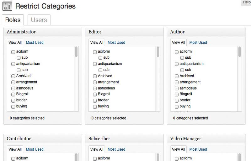 Hạn chế đăng bài vào một số category